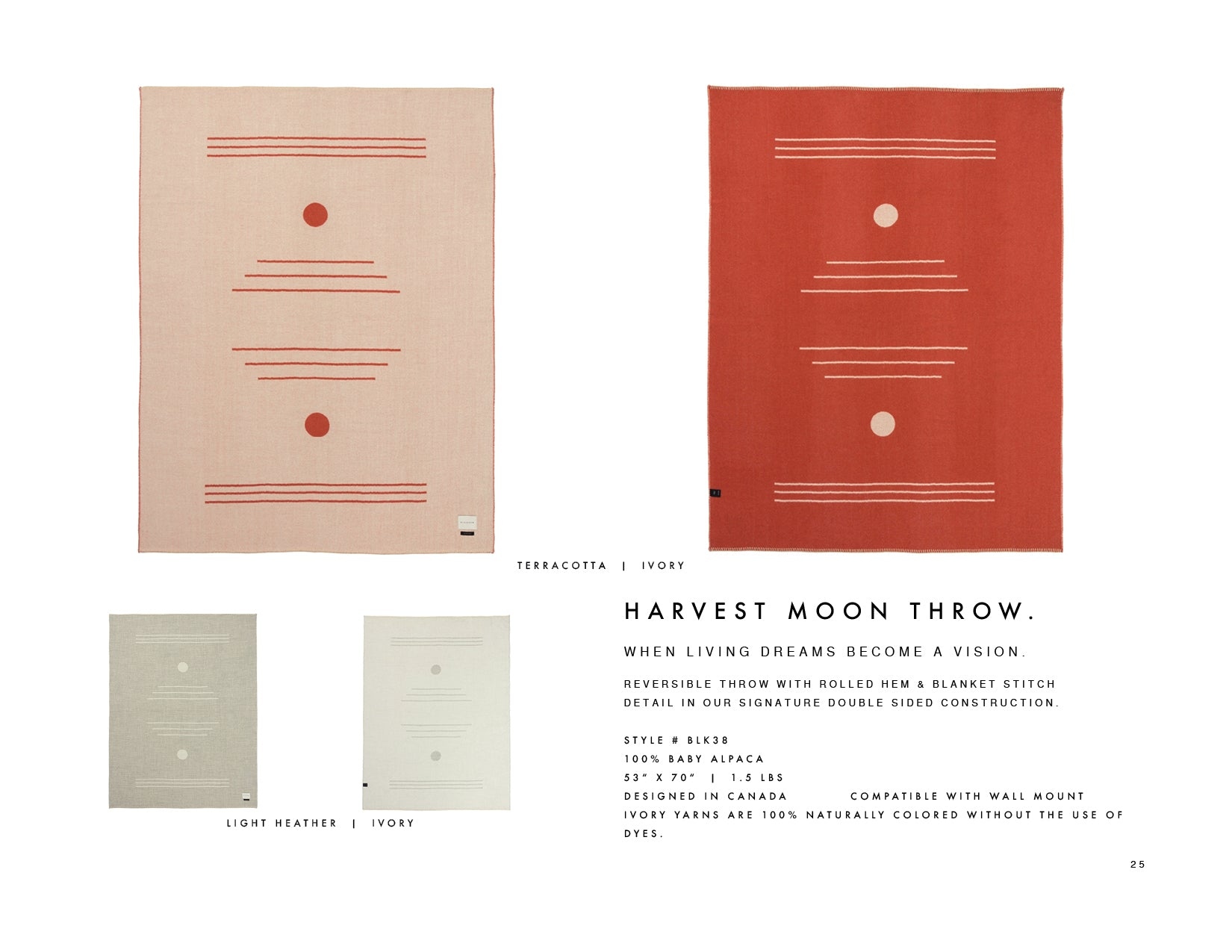 Blacksaw Harvest Moon Light heather/Ivory and Terracotta/ Ivory