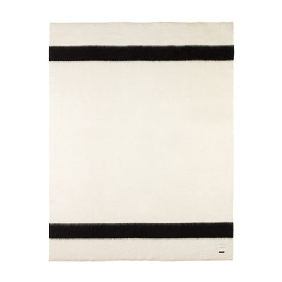 Blacksaw Siempre recycled blanket Ivory with Black stripe