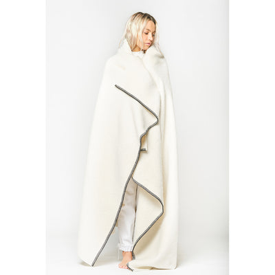 Blacksaw Siempre Recycled Alpaca Blanket in Speakeasy Ivory