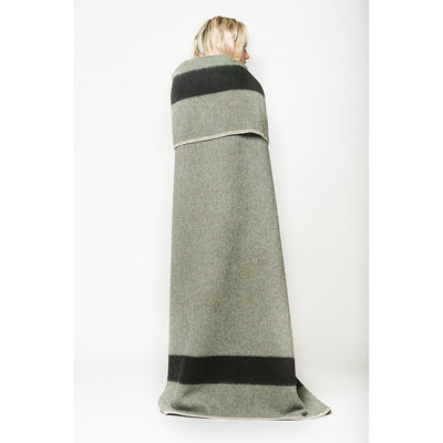 Blacksaw Siempre Recycled Alpaca Wool Blanket in Surplus