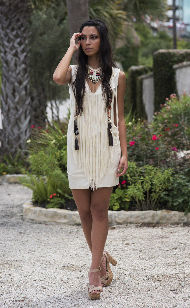 Fringe Sheath Dress