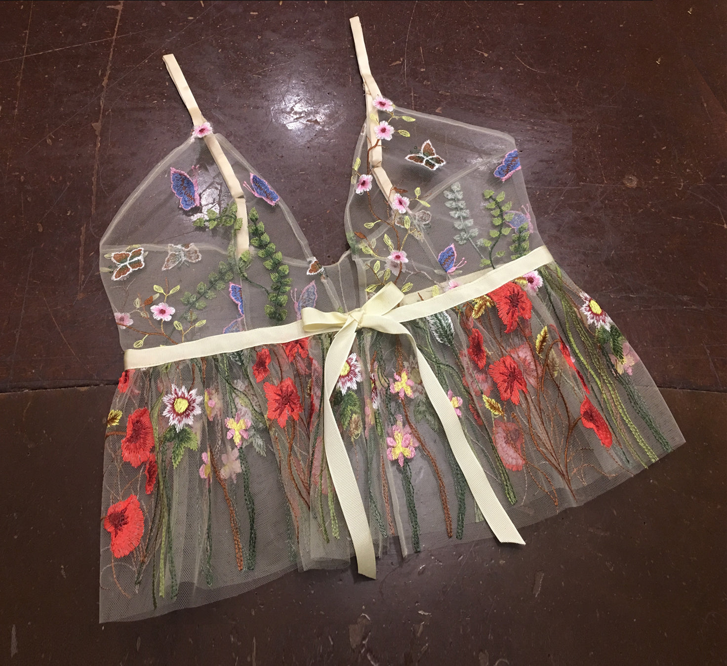 Flower Child Tulle Camisole