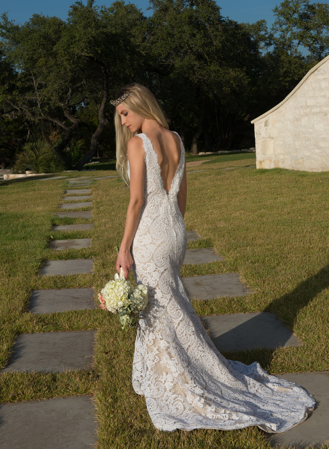 Couture Alencon Lace Mermaid Gown