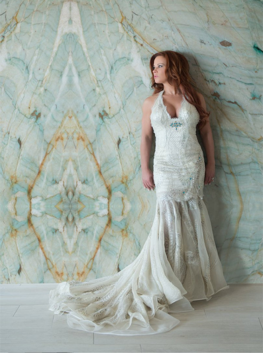 Solstiss Lace Mermaid Gown - Linda Asaf Bridal