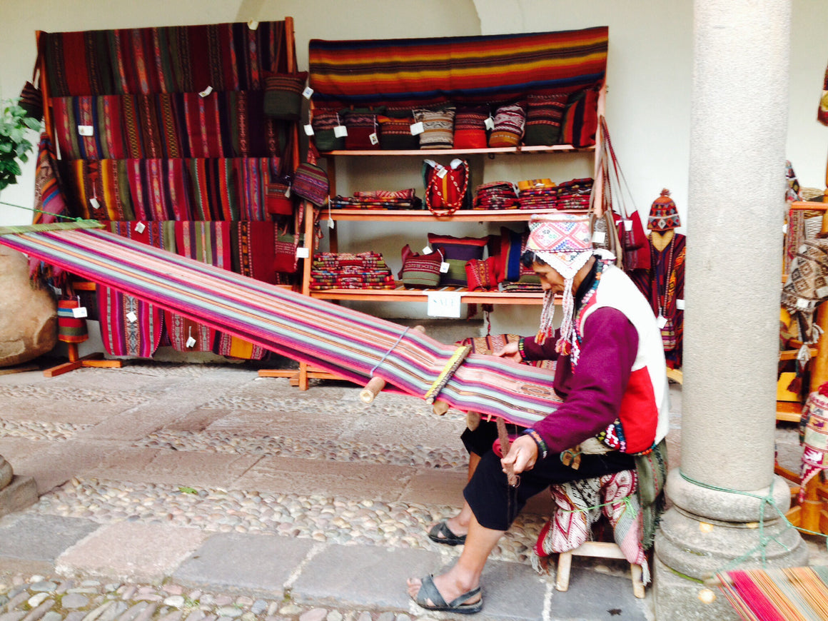 Cuzco Weaver in Traditional Peruvian Clothing