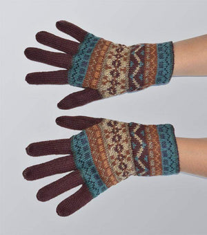 Intiwara Rowan Women's Full Fingered Alpaca Gloves