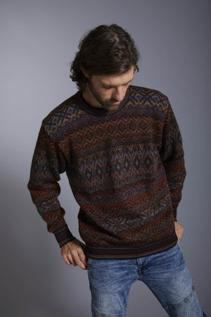 Intiwara Mens Sweater Small Santiago Men's Alpaca Sweater