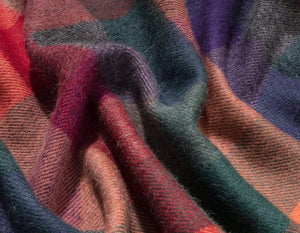 100% Baby Alpaca Throw Blanket or Shawl - Rio Brights