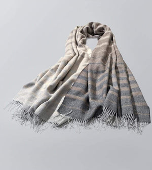 Invisible World 100% Baby Alpaca Throw Blanket or Shawl - Santiago