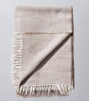Invisible World 100% Baby Alpaca Throw Blanket or Shawl - Twill Camel