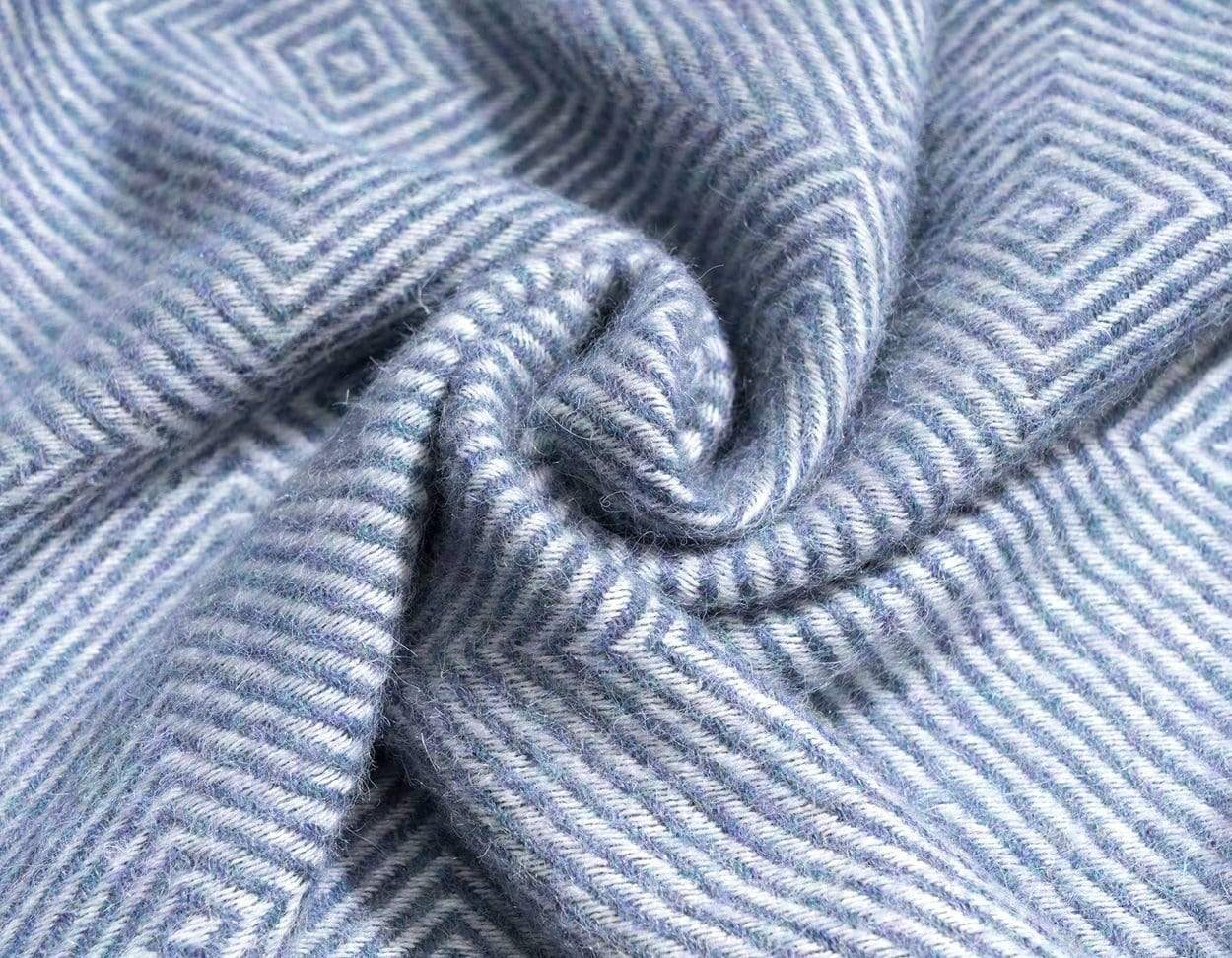 Invisible World 100% Baby Alpaca Throw Blanket or Shawl - Twill Denim