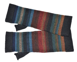 Invisible World Chiminea Alpaca Scarf and Fingerless Glove Set