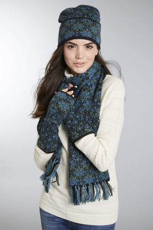 Invisible World Daphne Alpaca Hat Glove and Scarf Set