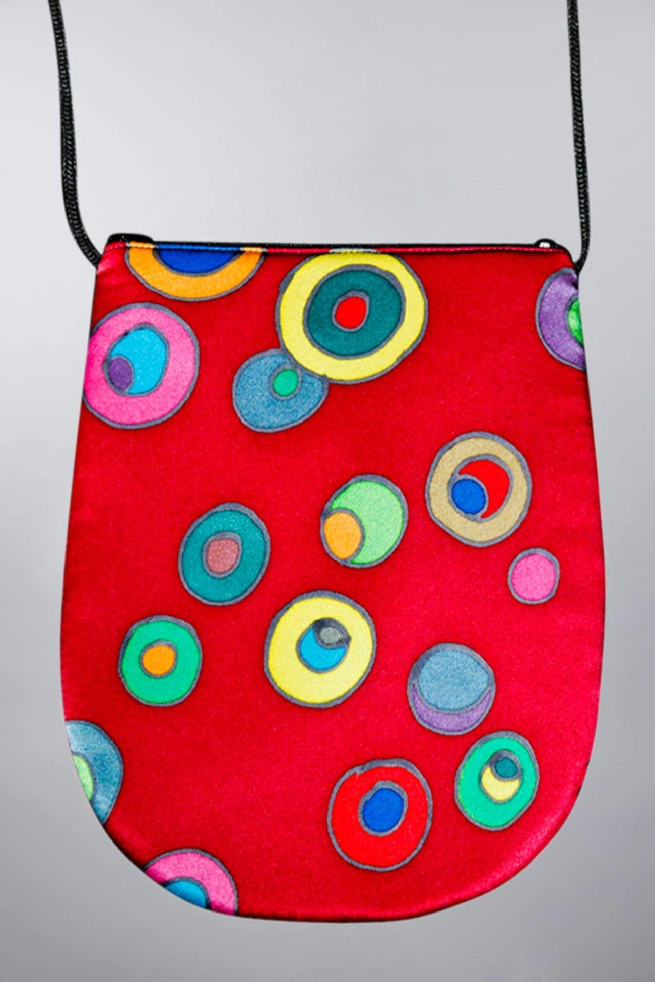 Invisible World Perfume Bags Dark Red Hand Painted Silk Perfume Bag - New Retro