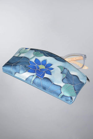 Invisible World Womens Accessories Eyeglass Case Blue Lotus