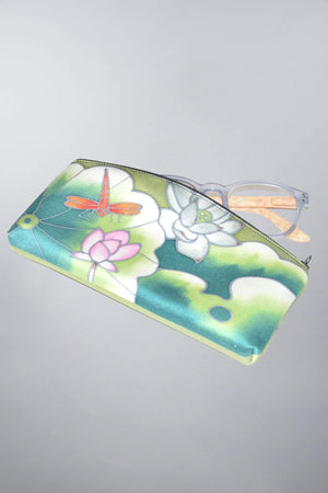 Invisible World Womens Accessories Eyeglass Case Lotus Dragonfly
