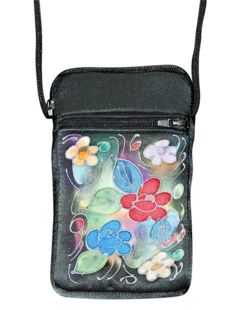 Invisible World Cell phone bag Hand-Painted Silk Cell Phone Mini-Purse - Suzy
