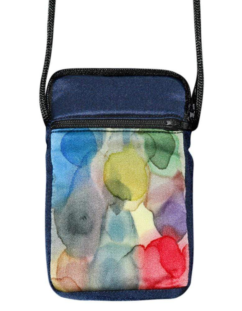 Invisible World Cell phone bag Hand-Painted Silk Cell Phone Mini-Purse - Watermark