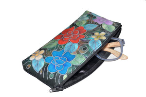 Hand-Painted Silk Eyeglass Case Suzy