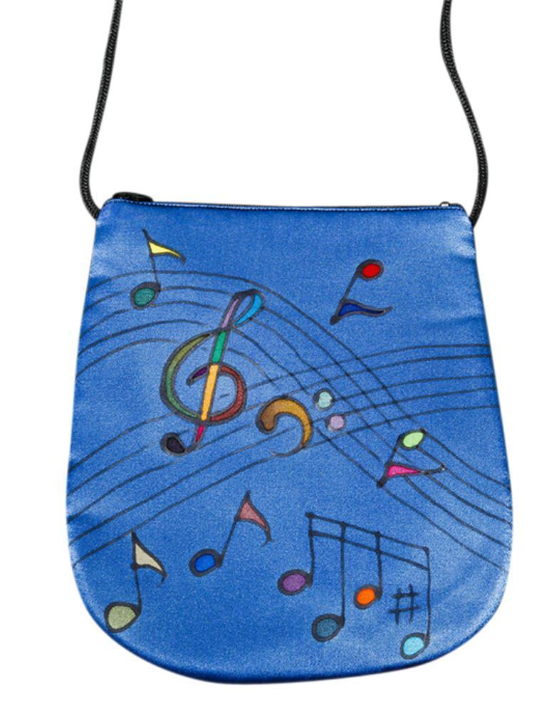 Invisible World Perfume Bags Hand Painted Silk Perfume Bag - Music Celestial