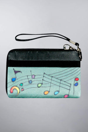 Invisible World Strap Wallets Hand Painted Silk Strap Wallet - Music