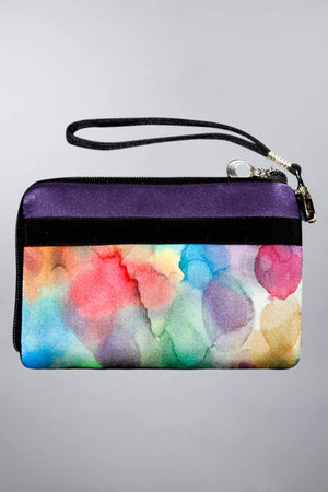 Invisible World Strap Wallets Hand Painted Silk Strap Wall- Watermark