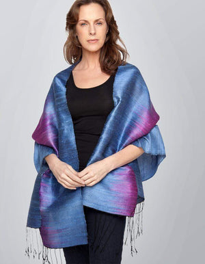 Invisible World Ikat Stole Scarf