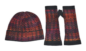 Noelle Red Alpaca Hat, Scarf and Gloves Set