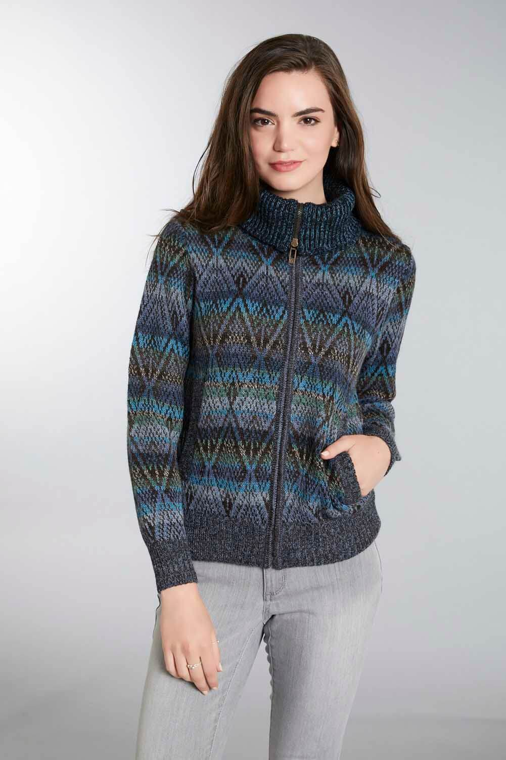 Marina Polo Jacket Women's Alpaca Sweater
