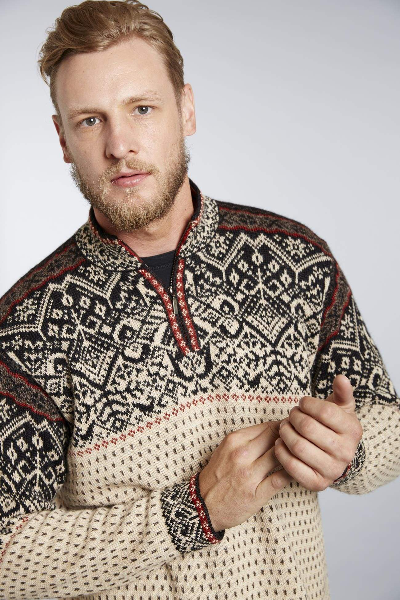 Max Men's Alpaca Nordic Sweater
