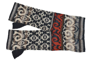 Invisible World Gloves Multicolor Volga Women's Fingerless Alpaca Gloves