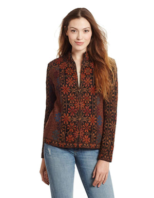 Ophelia Embroidered 100% Alpaca Cardigan Sweater