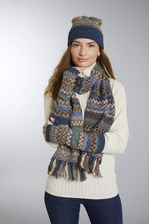 Invisible World Oscar Alpaca Hat Glove and Scarf Set
