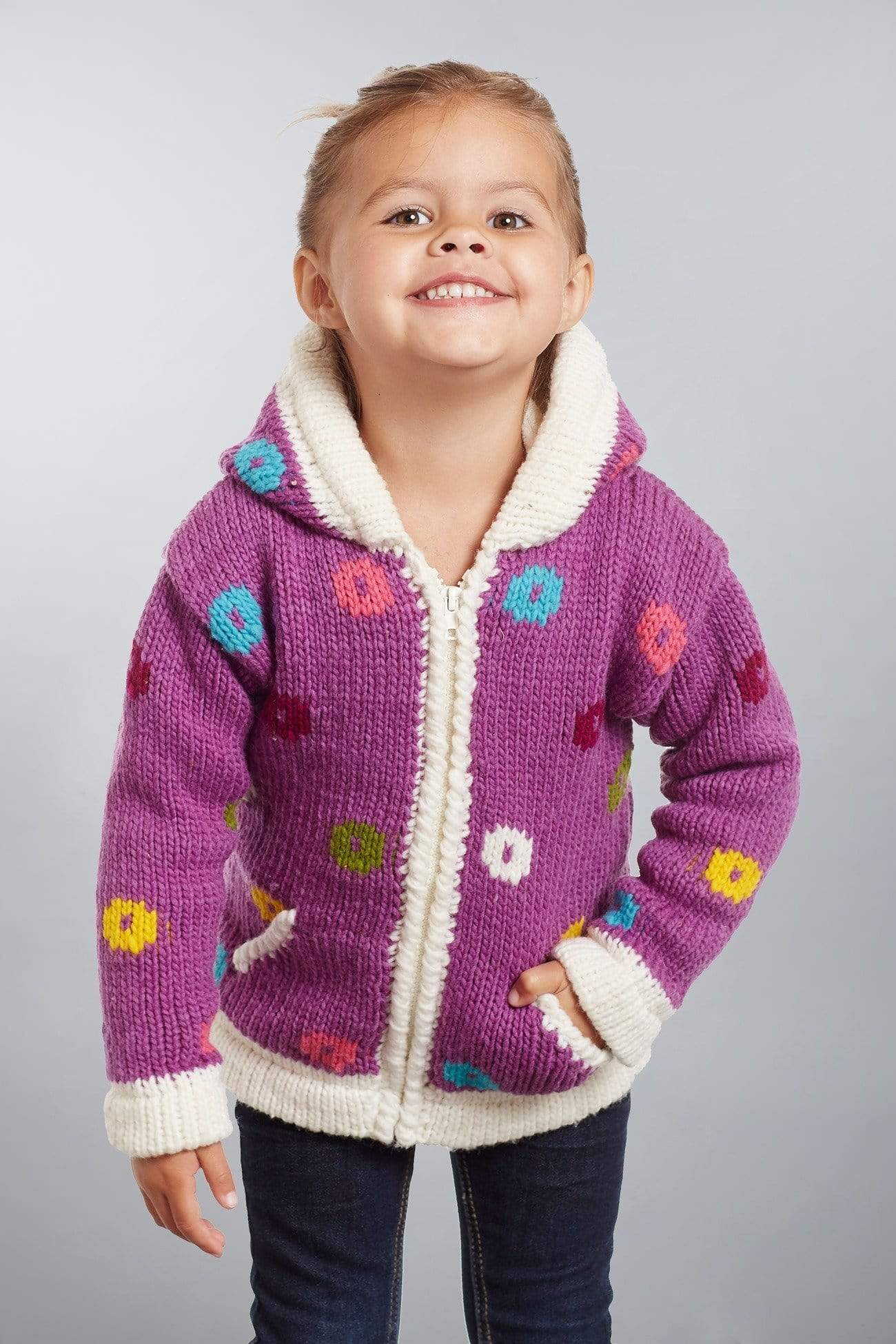 Invisible World Kids Sweaters Otavalo Kid's Sweater Coat Balloons