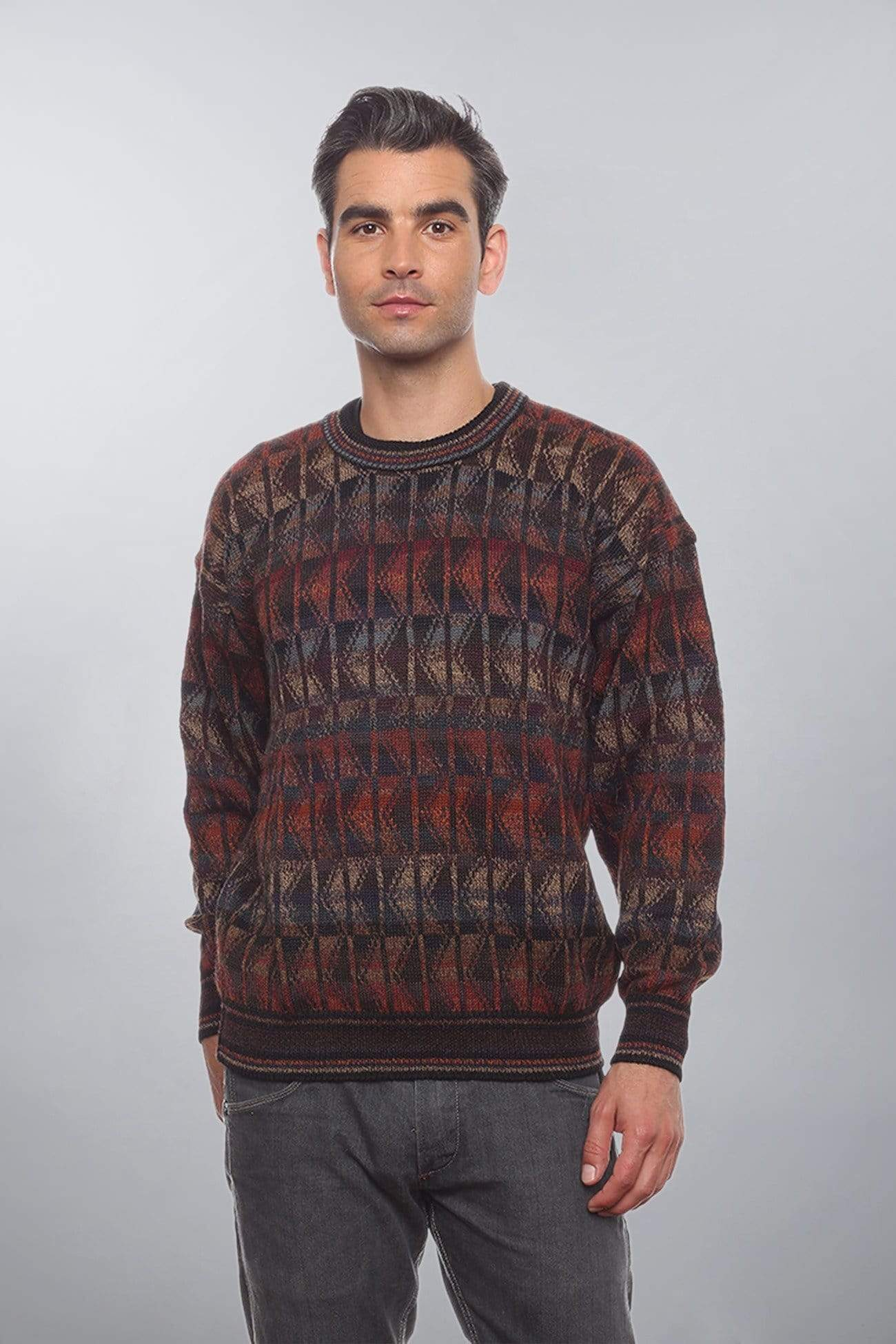 Invisible World Men's Pullover Red / Small Pando Men's Alpaca Sweater