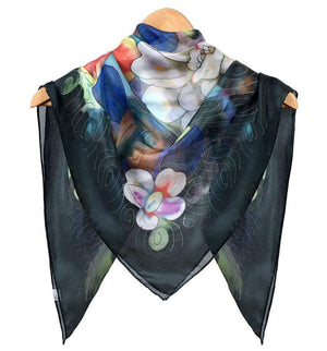 Square Hand Painted Silk Scarf - Suzy