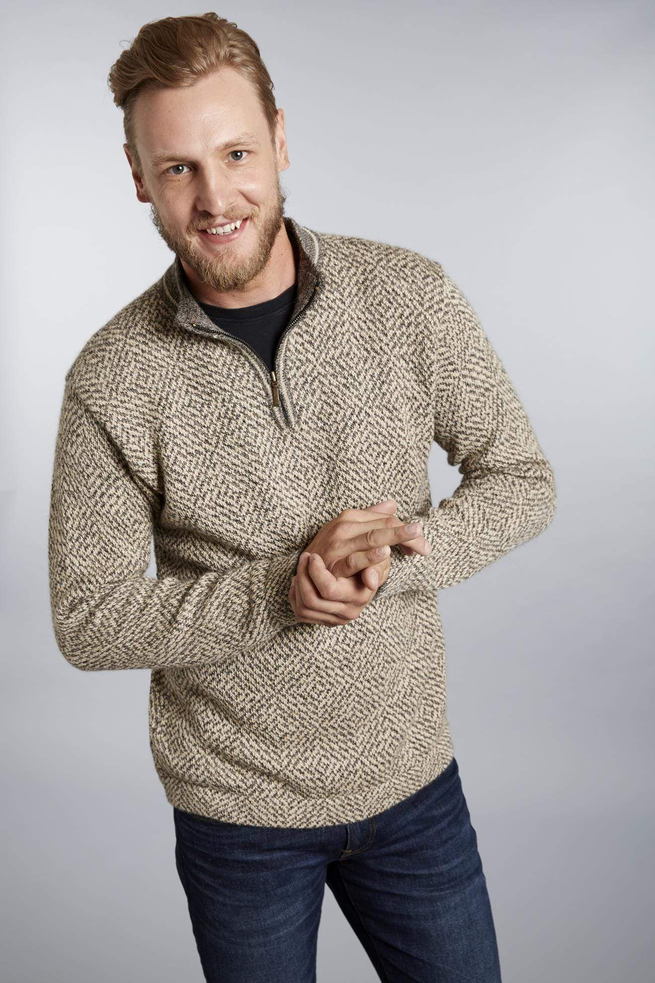 Invisible World Men's Pullover Vincent Men's Alpaca Sweater