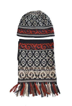 Volga Alpaca Hat, Scarf and Gloves Set