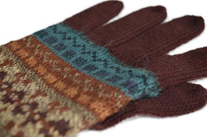Women's Full-Fingered Alpaca Gloves for Winter