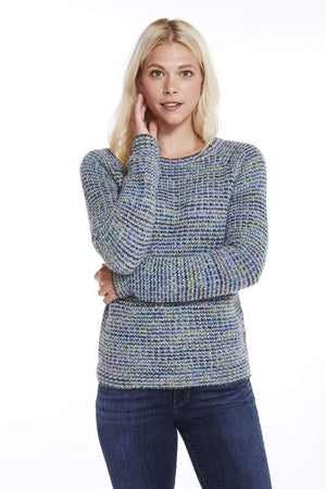 Northern Lights Hand-Dyed Crew Neck Alpaca Sweater for Women