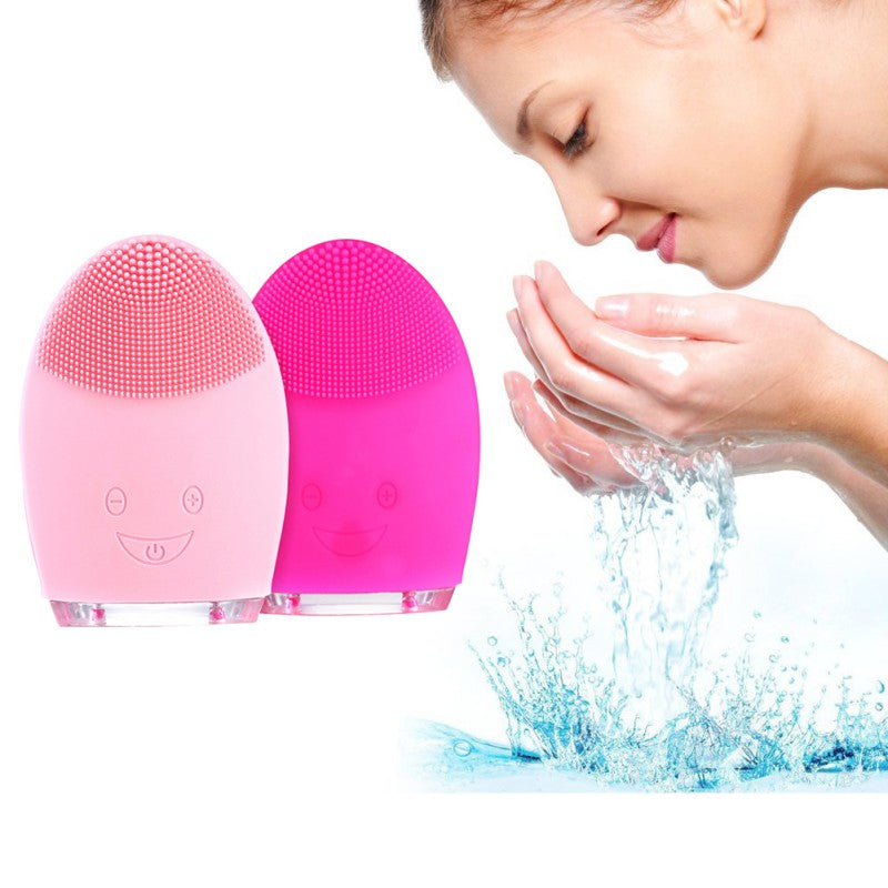 Face Cleaning Mini Electric Massage Brush Washing Silicone Cleansing Tools