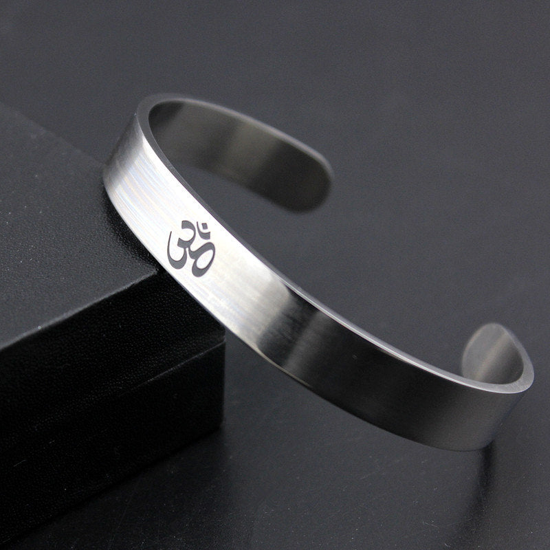 Cool Silver India Stainless Steel Cuff Bangle Opening Bracelet