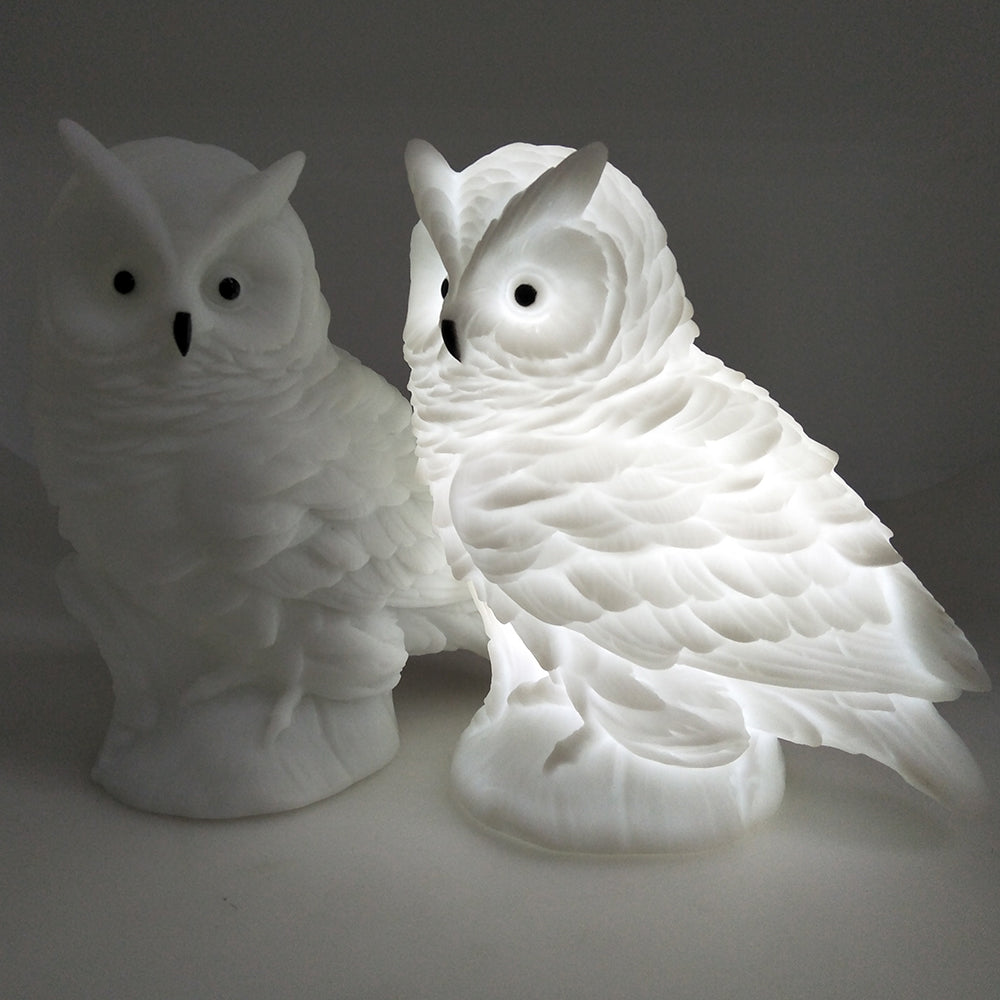 Creative Owl Lights Silicone Dolls Nightlight - Baby Bedroom Table Lamp