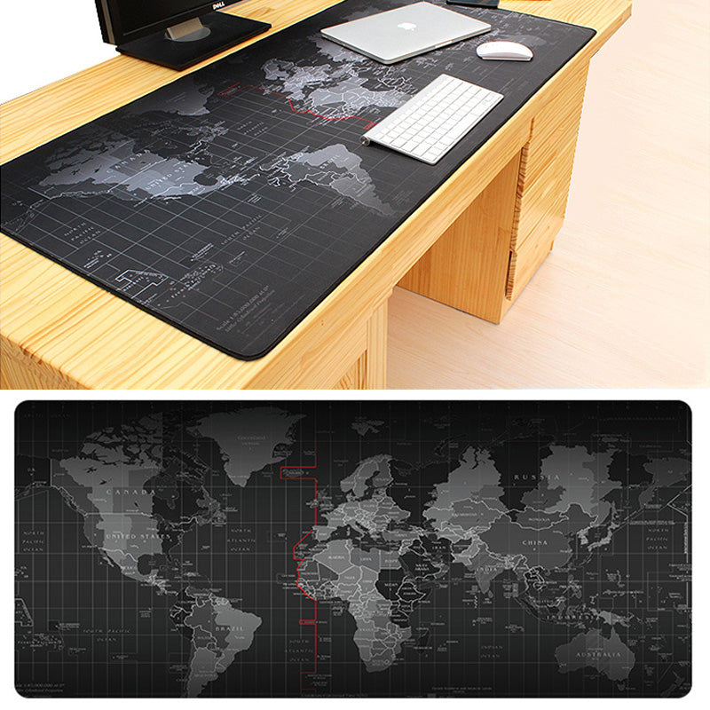 Mouse Pad Gaming Extra Large World Map Cloth Mouse Mat - Non Slip Rubber Base