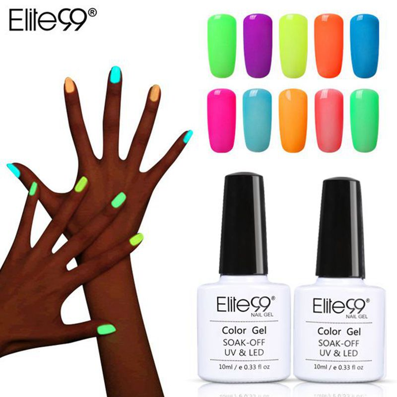 Nail Gel Polish Fluorescent - GLOW IN THE DARK