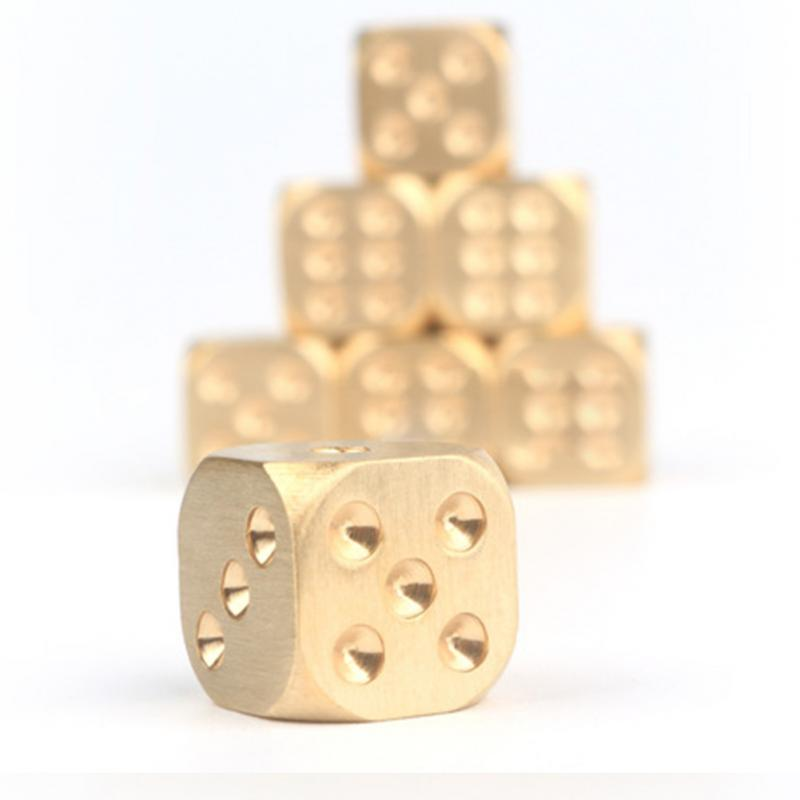 Golden Pure Color Dice - Poker Dominoe