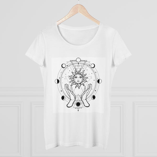 Sun and Moon Cycle Organic Women's Lover T-shirt