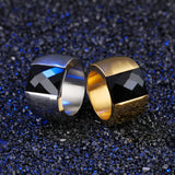 Men's Stainless Steel Hyperbole Inlaid Crystal Ring Jewelry