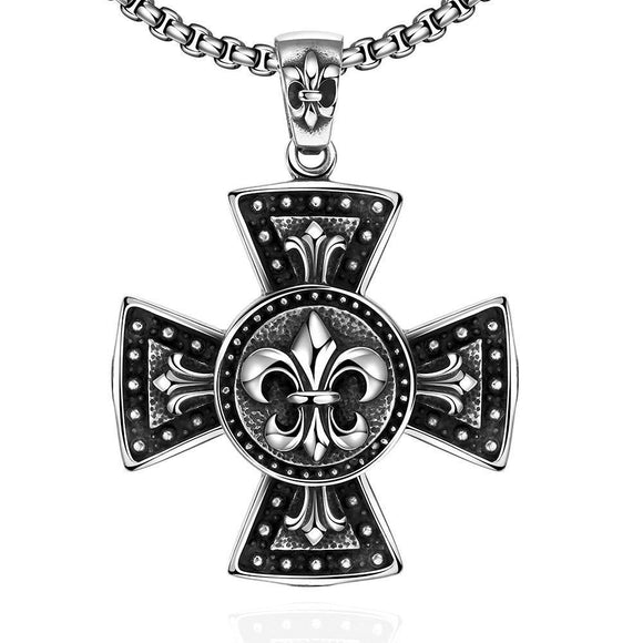 Thick Cross Stainless Steel Necklace