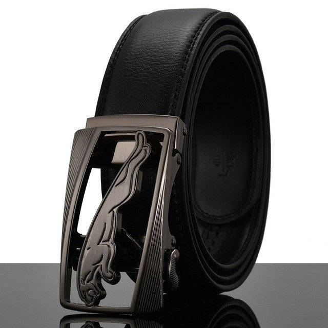 Fashion Cheetah Men Automatic Buckle Leather luxury Belts